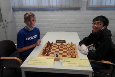 Linus Rohm und Haode Yin bei dem NRW U14 Finale 2020
